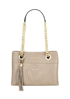 Valentino by Mario Valentino Embossed Logo Leather Shoulder Bag
