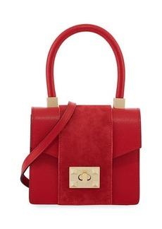 Valentino By Mario Valentino Grace Palmellato Leather Shoulder Bag