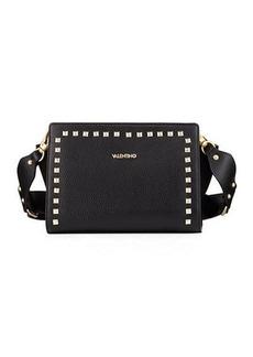 Valentino By Mario Valentino Kiki Dollaro Mixed Leather Handbag