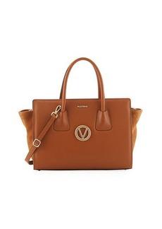 Valentino By Mario Valentino Kiria Dollaro Suede/Leather Tote Bag