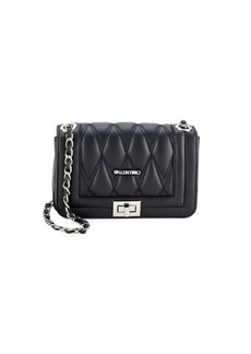 Valentino by Mario Valentino Leather-Blend Quilted Crossbody Bag