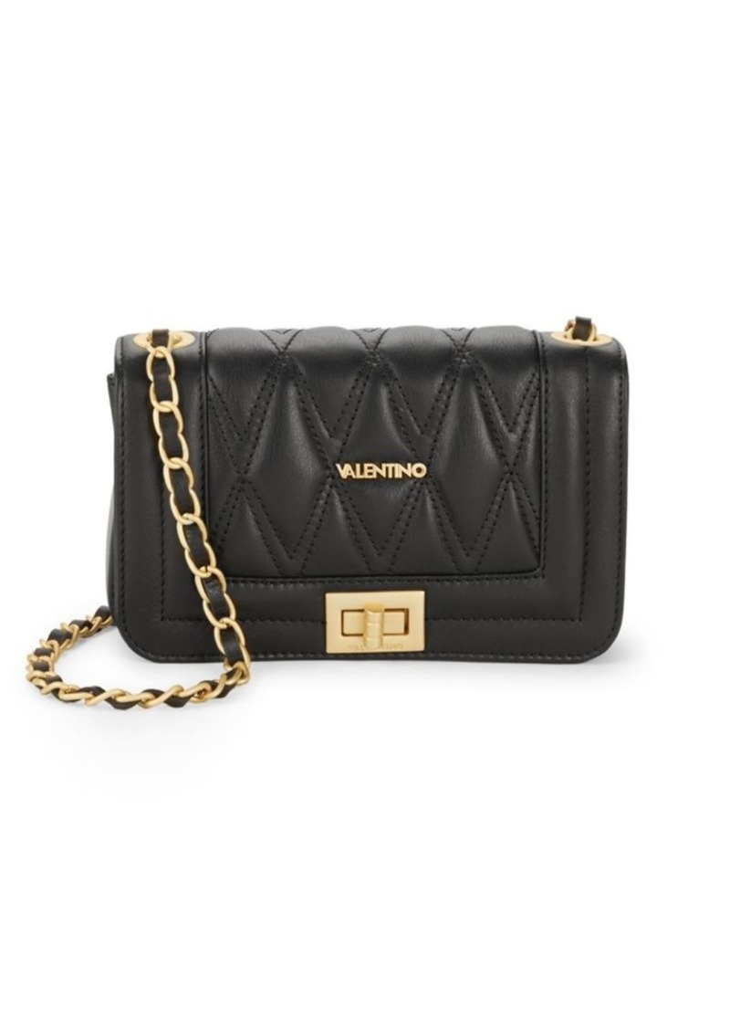 Valentino By Mario Valentino Leather Blend Quilted Crossbody Bag