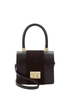 Valentino by Mario Valentino Leather Box Mini Bag
