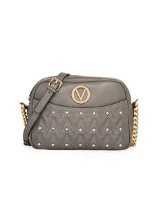 Valentino By Mario Valentino Leather Quilted Stud Shoulder Bag