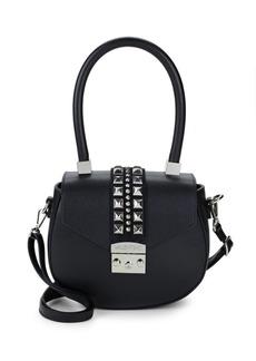 Valentino by Mario Valentino Leather Rockstud Saddle Bag