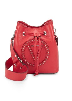 Valentino by Mario Valentino Leon Studded Leather Bucket Bag