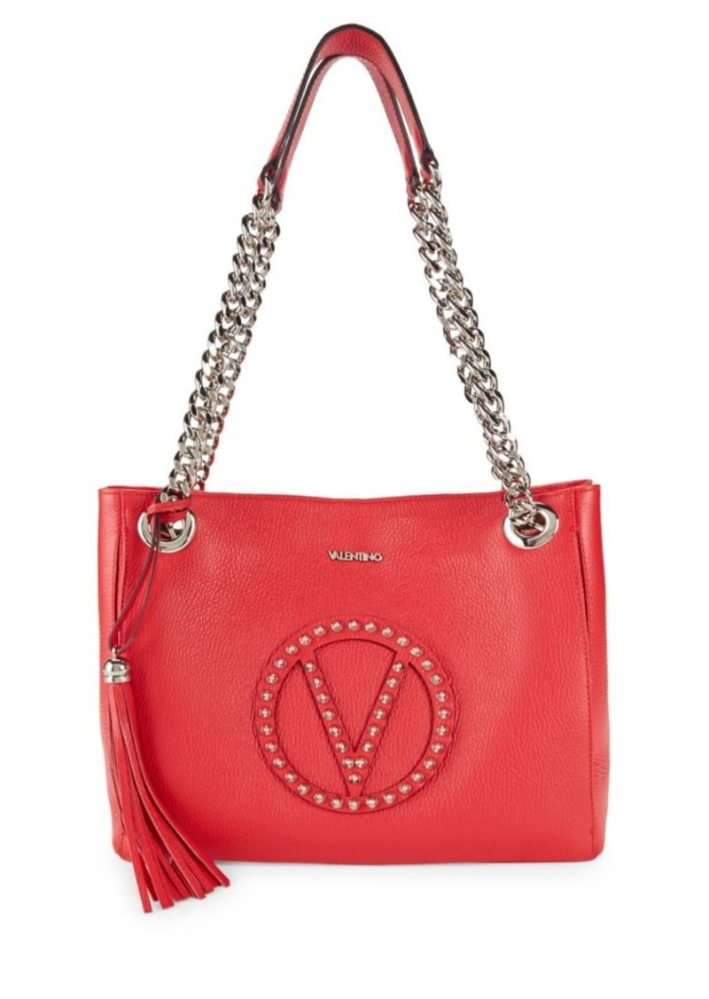 Valentino By Mario Luisa Studded Leather Tote Bag