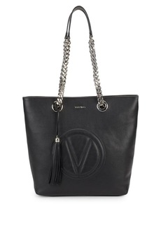 Valentino by Mario Valentino Marylin Stamped Logo Leather Tote Bag