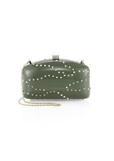 Valentino Garavani Metal Studs & Crystal Embellished Clutch
