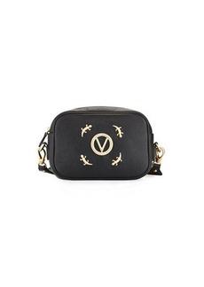 Valentino By Mario Valentino Mia Zip-Top Lizard Shoulder Bag