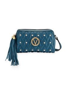 Valentino By Mario Valentino Mila Studs Sauvage Leather Tassel Crossbody Bag