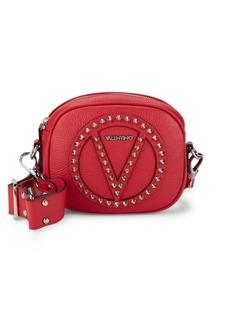 Valentino Nina Studded Logo Leather Crossbody Bag