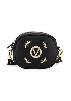 Valentino By Mario Valentino Nina Zip-Top Lizard Shoulder Bag
