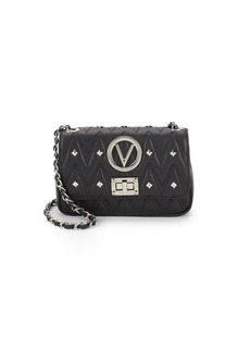 Valentino by Mario Valentino Noelled Studded Leather Crossbody Bag