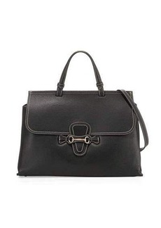 Valentino By Mario Valentino Olimpia Pebbled Leather Satchel Bag