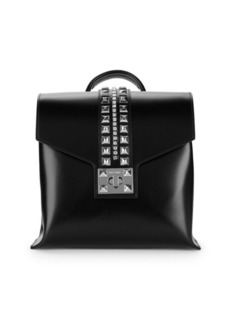 Valentino by Mario Valentino Oliver Studded Leather Backpack