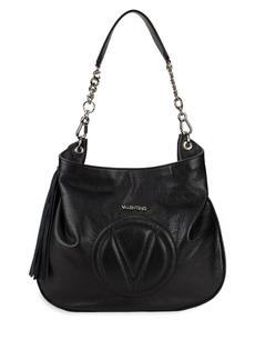 Valentino Penlope Pebbled Leather Hobo Bag