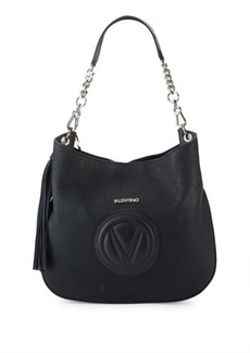 Valentino by Mario Valentino Penny Perforated Leather Shoulder Bag