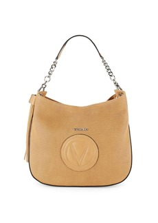Valentino by Mario Valentino Penyp Textured Leather Hobo Bag