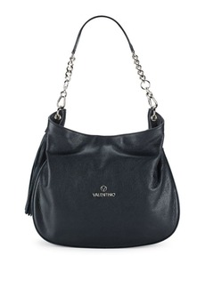 Valentino by Mario Valentino Poppy Dollaro Leather Shoulder Bag