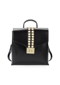 Valentino by Mario Valentino Rockstud Leather Backpack