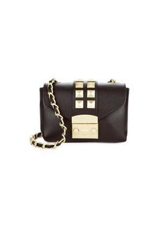Valentino by Mario Valentino Stud Design Leather Mini Bag