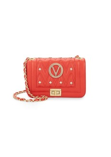 Valentino by Mario Valentino Studded Leather Crossbody Bag