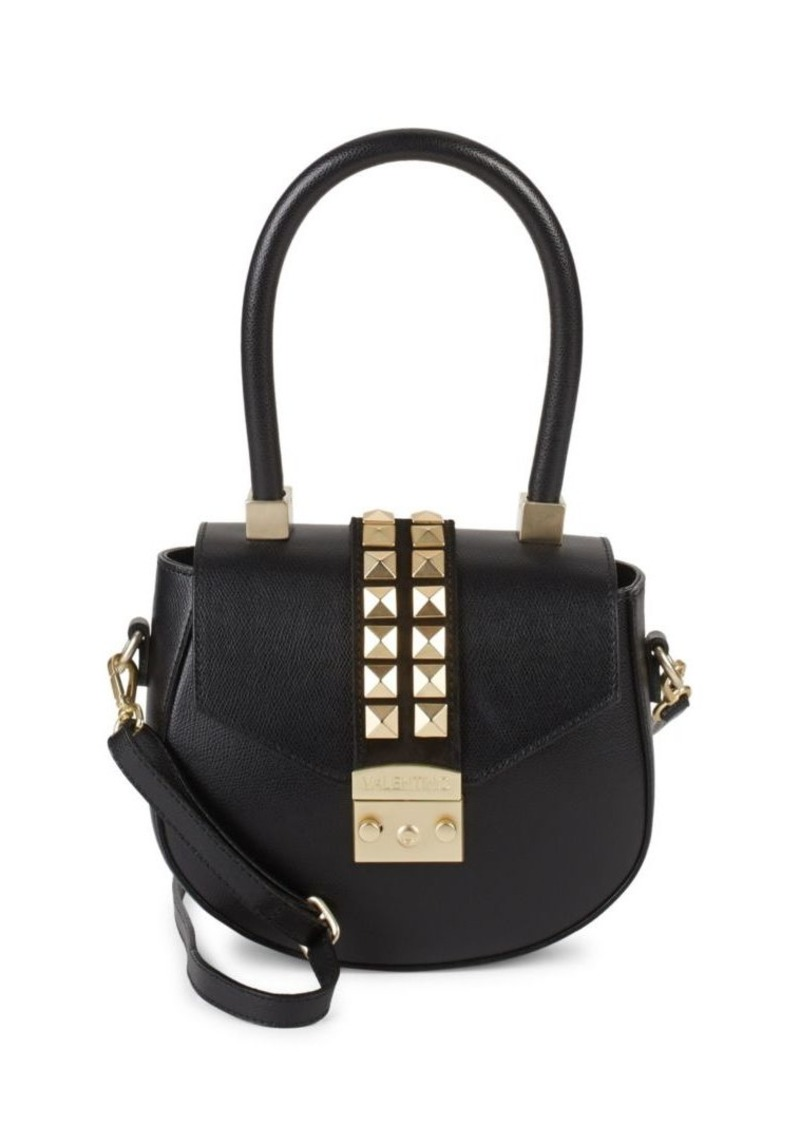 a0cd2d0bea41 SALE! Valentino by Mario Valentino Studded Leather Saddle Bag