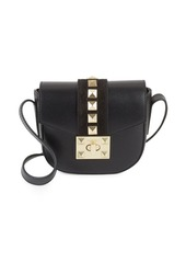 Valentino by Mario Valentino Studded Leather Saddle Bag