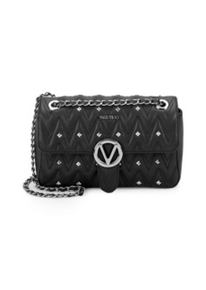 Valentino by Mario Valentino Studded Leather Shoulder Bag