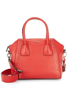 Valentino by Mario Valentino Studded Mini Leather Satchel
