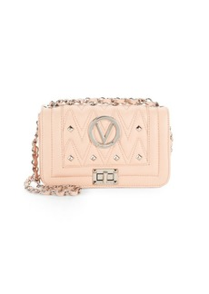 Valentino by Mario Valentino Studded Mini Leather Shoulder Bag