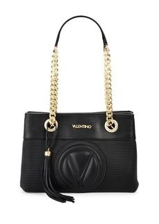 Valentino by Mario Valentino Tassel Leather Shoulder Bag