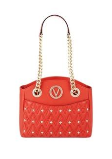 Valentino by Mario Valentino Textured & Studded Italian Leather Handbag