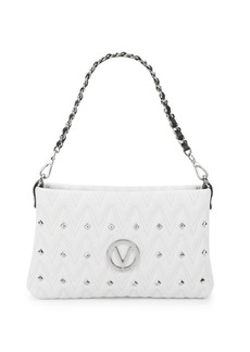 Valentino by Mario Valentino Vaniled Zigzag Stitch Leather Shoulder Bag