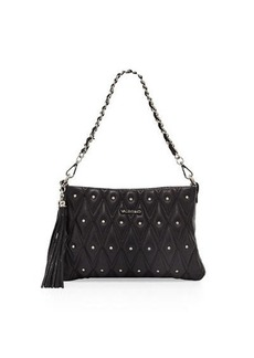 Valentino By Mario Valentino Vanille Quilted Studded Shoulder Bag