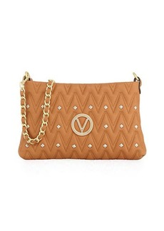 Valentino By Mario Valentino Vanille Studs Sauvage Leather Shoulder Bag