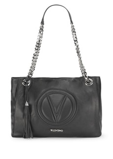 Valentino by Mario Valentino Vera Leather Chain Shoulder-Strap Bag