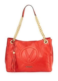 Valentino By Mario Valentino Verra Sauvage Leather Shoulder Bag