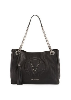 Valentino By Mario Valentino Verra Sauvage Leather Shoulder Bag