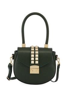 Valentino By Mario Valentino Yolande Palmellato Leather Saddle Bag