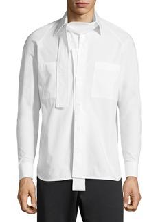Valentino Camicia Manica Lunga Poplin Shirt