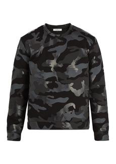 Valentino Camouflage-print jersey sweatshirt