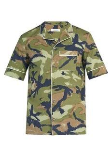 Valentino Camouflage-print short-sleeved cotton shirt