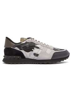 Valentino Camouflage Rockstud low-top trainers