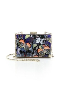 Valentino Camubutterfly Acrylic Clutch