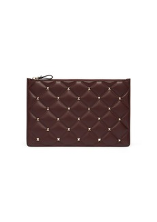 Valentino Candystud quilted-leather pouch