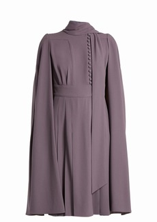 Valentino Cape-back crepe dress