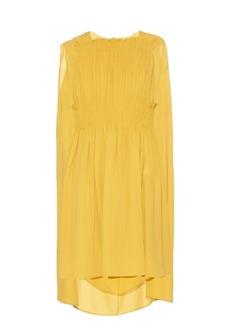 Valentino Cape-back silk-georgette dress