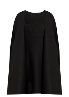Valentino Cape-back wool and silk-blend mini dress